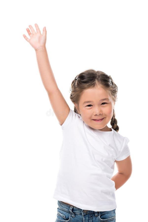 criança adorável de ondulação foto de stock royalty free