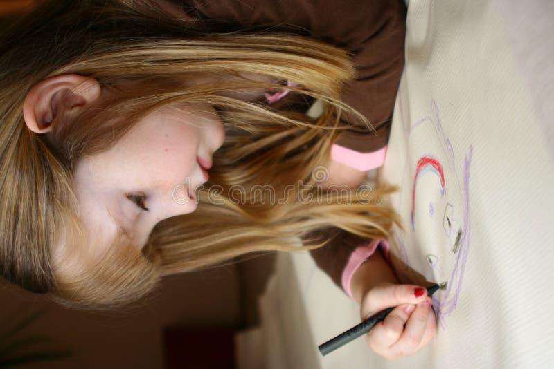 Criança artística foto de stock