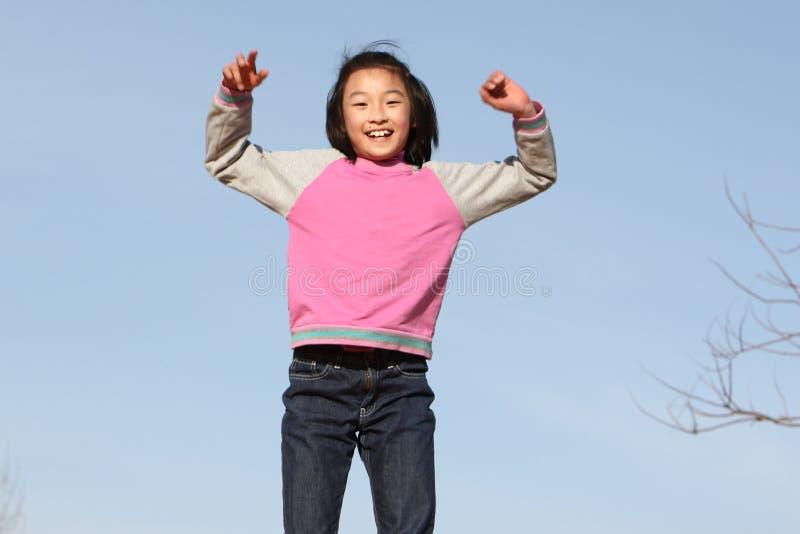 Criança asiática feliz imagens de stock