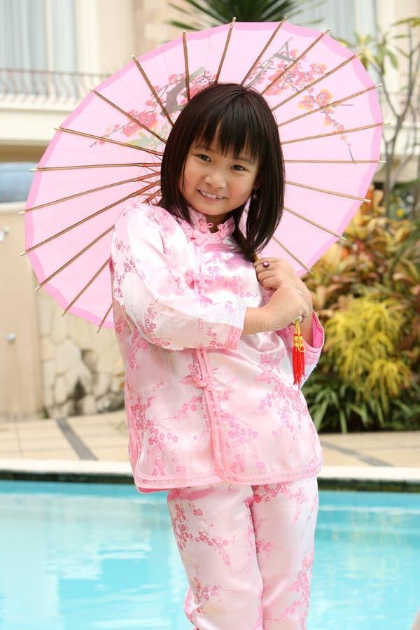 Criança asiática feliz foto de stock