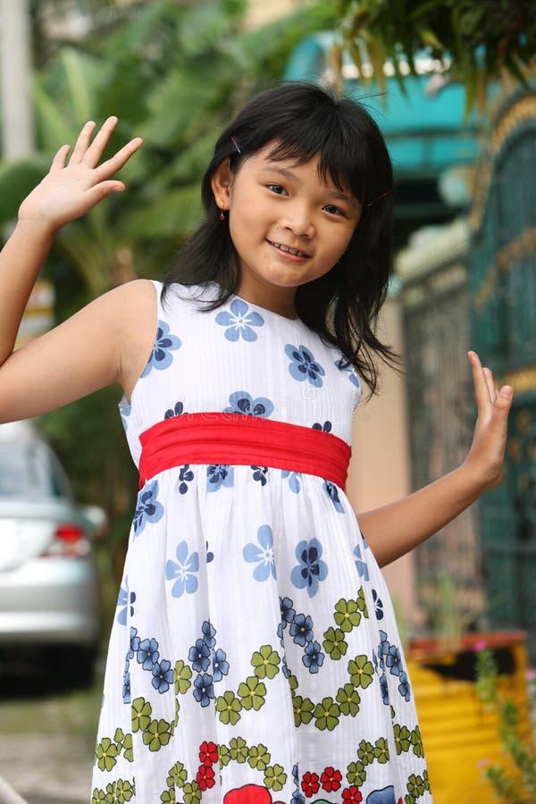 Criança asiática feliz imagens de stock royalty free