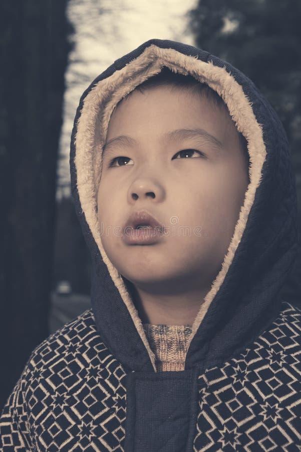 Criança azul fotografia de stock royalty free