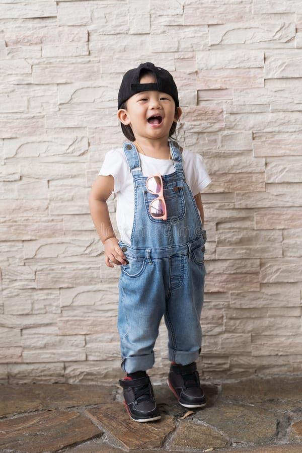 Criança bonito asiática do bebê happinese imagem de stock