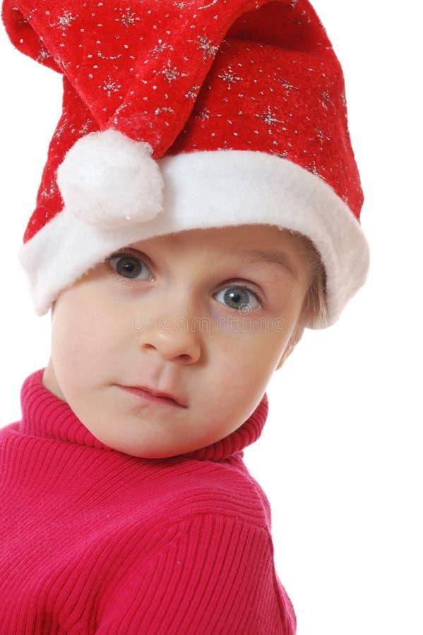 Criança bonito do Natal foto de stock