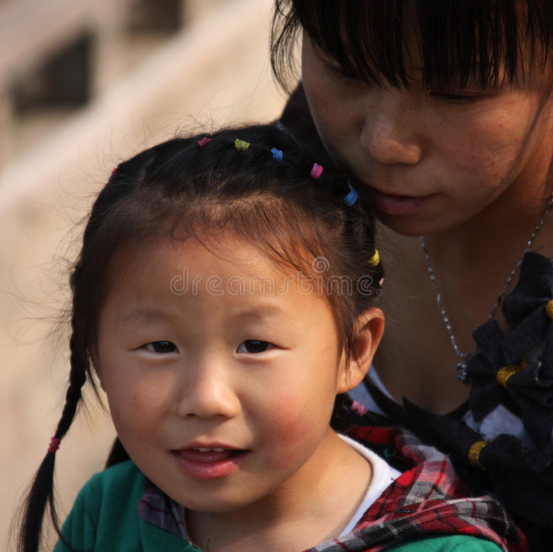 Criança chinesa fotos de stock