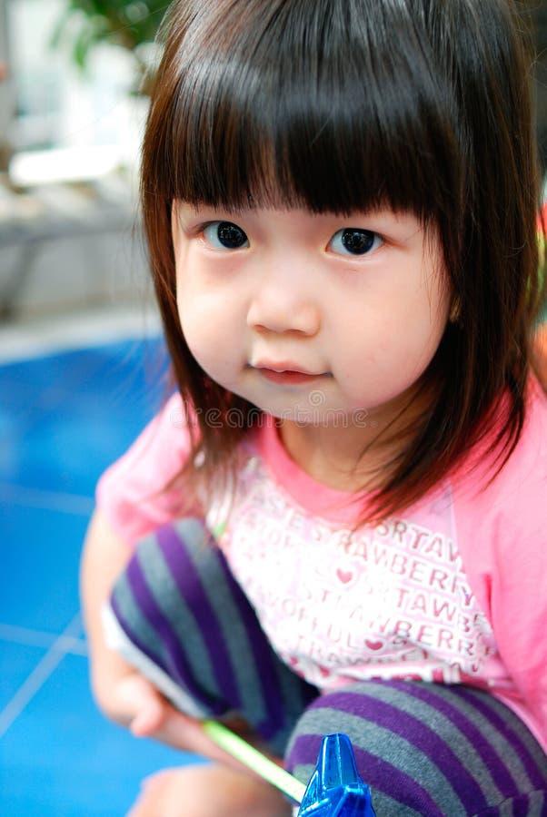 Criança chinesa bonita imagens de stock royalty free