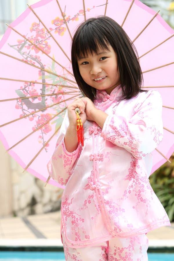 Criança chinesa feliz imagem de stock