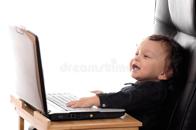 Criança com caderno. imagens de stock royalty free