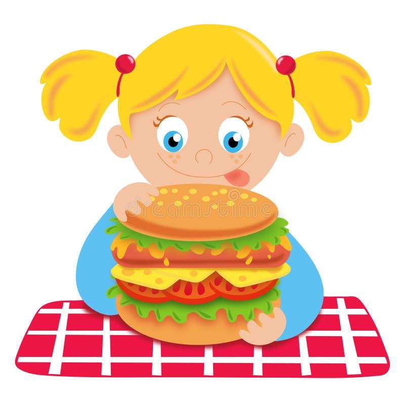 Criança com fome ilustração do vetor