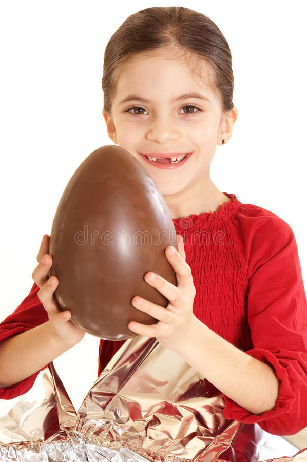 Criança com ovo de easter imagens de stock