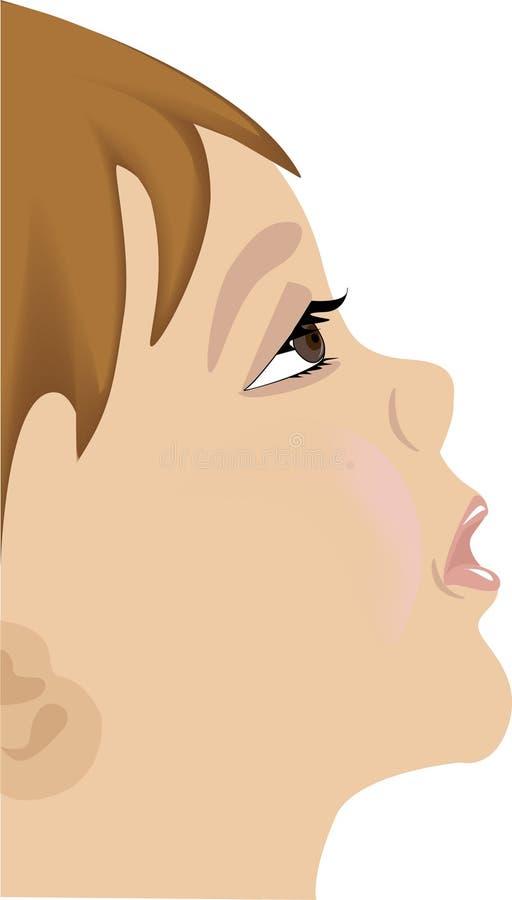 Criança com pessoa triste ilustração do vetor