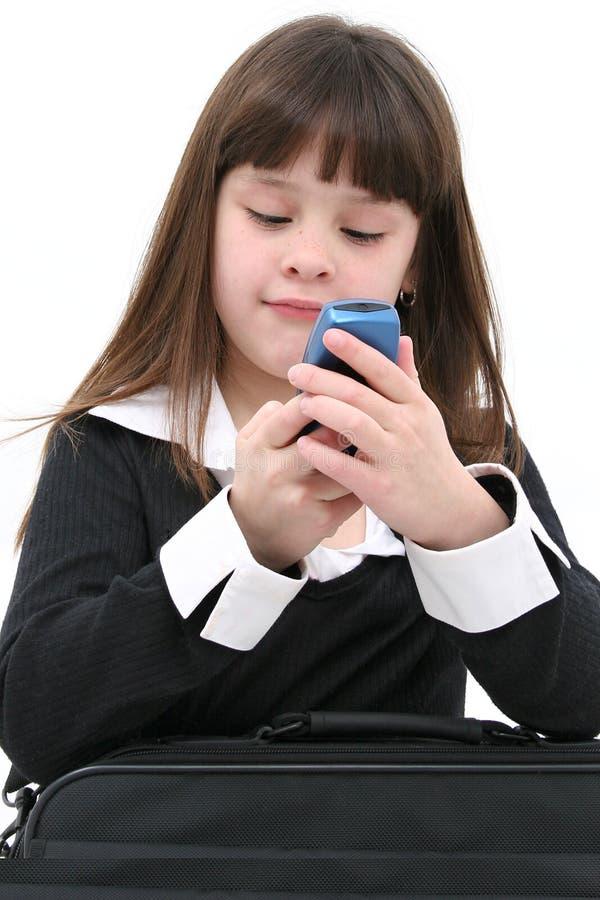 Criança com telemóvel fotografia de stock royalty free