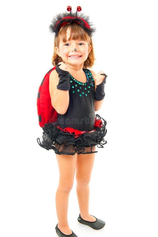 Criança como o Ladybug fotos de stock