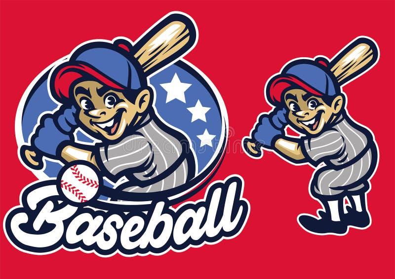 Criança como uma massa do basebol ilustração royalty free