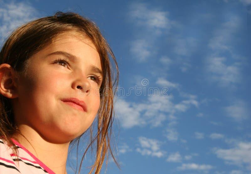 Criança confiável esperançosa fotografia de stock