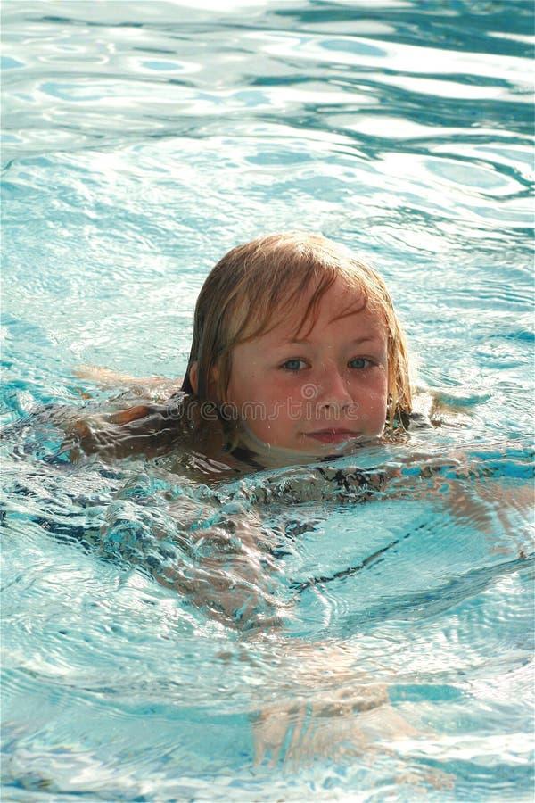 Criança da natação imagens de stock