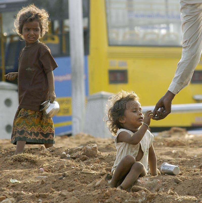Criança da pobreza imagens de stock