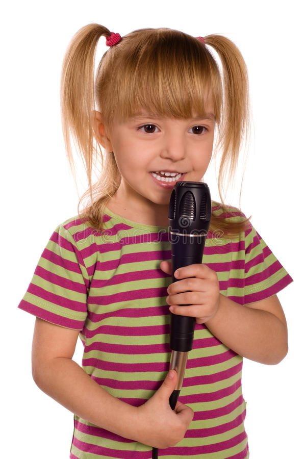Criança de canto foto de stock royalty free