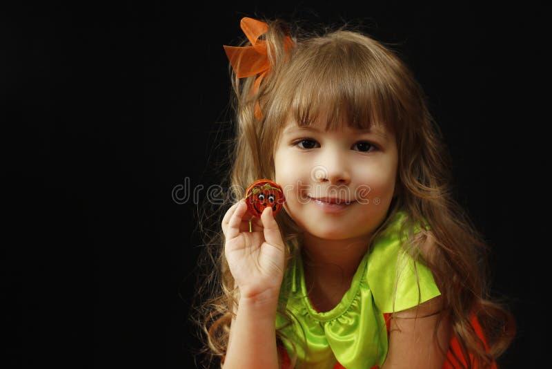 Criança de Dia das Bruxas foto de stock royalty free
