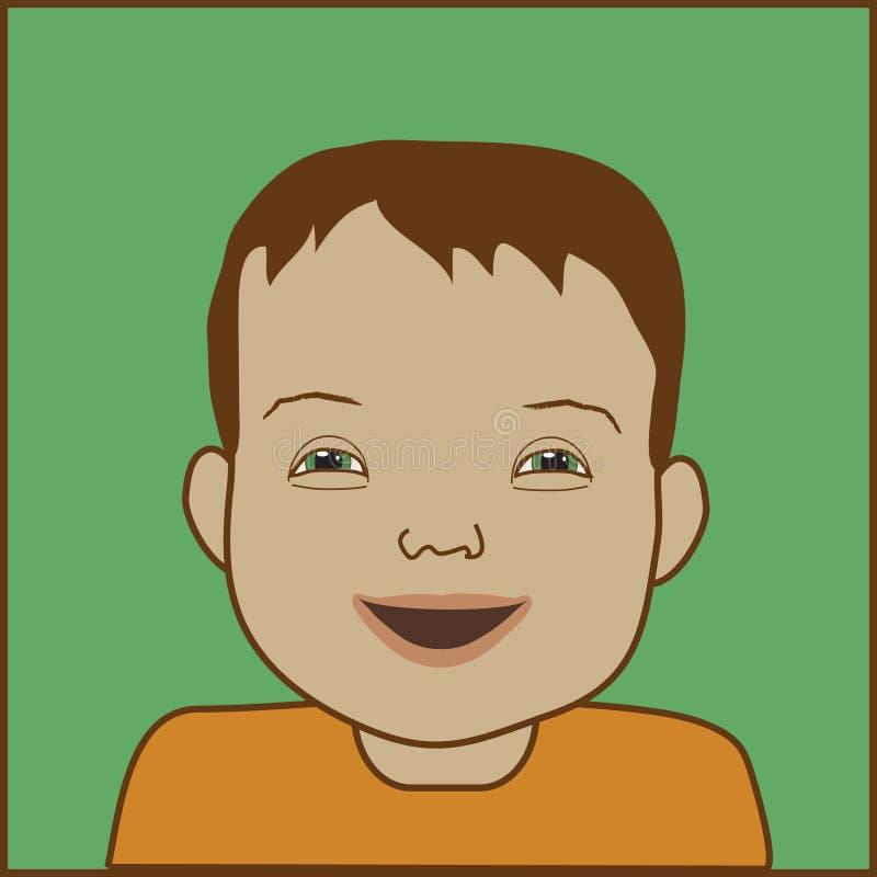 Criança de Down Syndrome ilustração do vetor