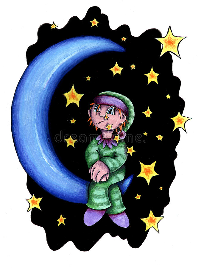 Criança de lua imagens de stock royalty free