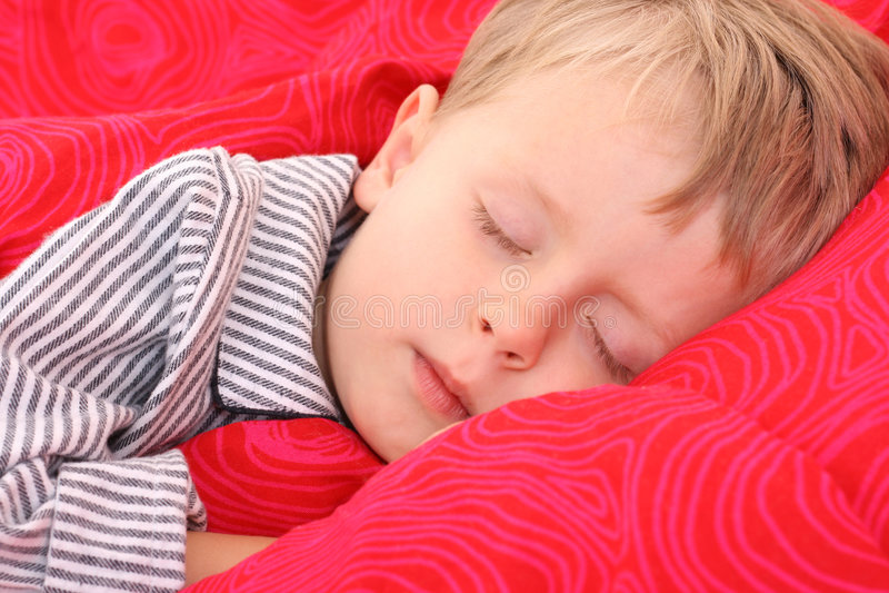 Criança de sono imagem de stock royalty free