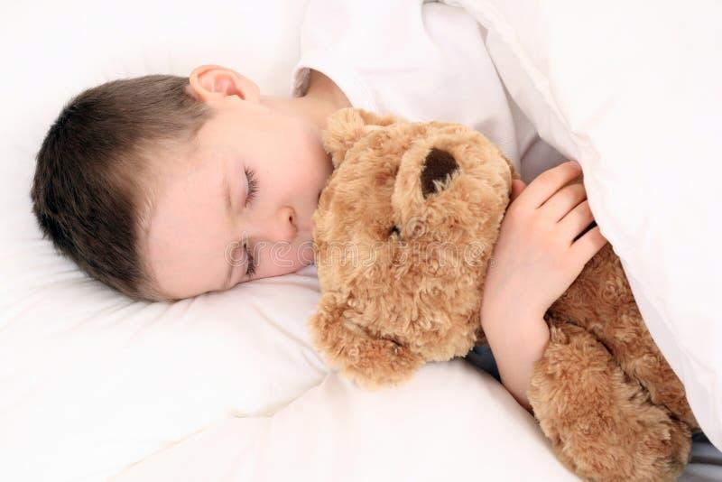 Criança de sono foto de stock