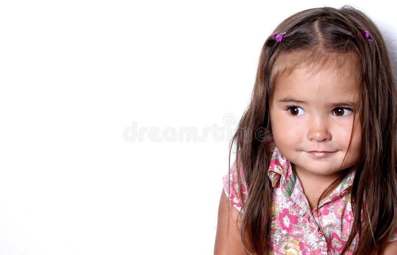 Criança de sorriso bonita foto de stock