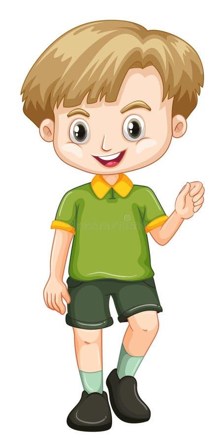 Criança de sorriso feliz bonito isolada no fundo branco ilustração do vetor