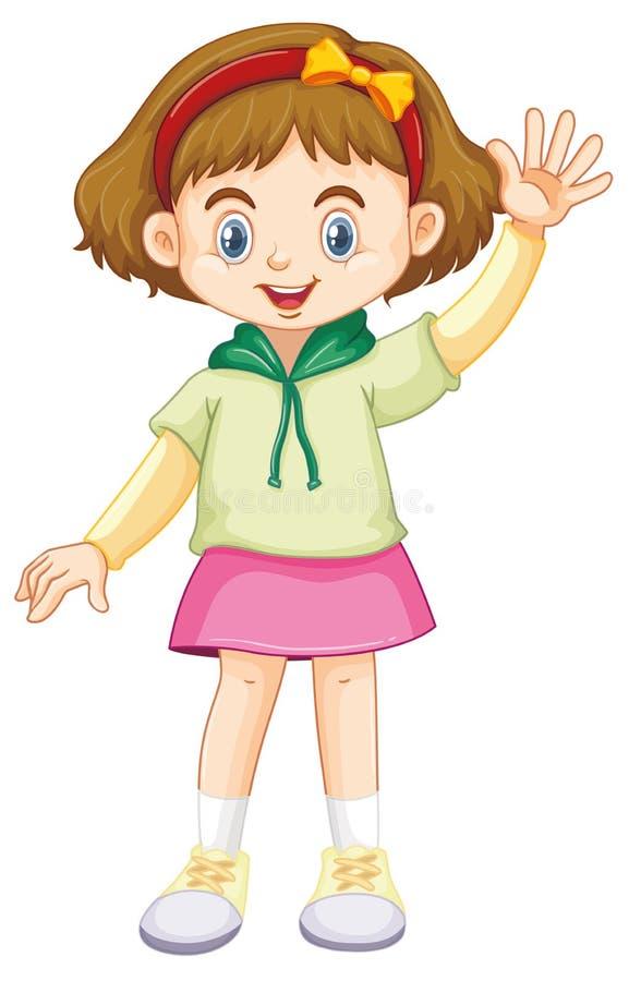 Criança de sorriso feliz bonito isolada no fundo branco ilustração royalty free