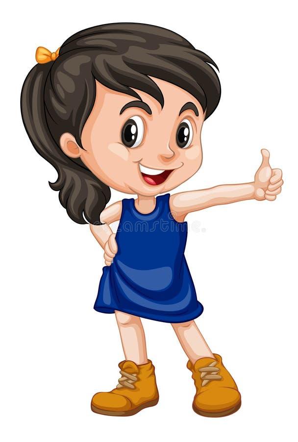 Criança de sorriso feliz bonito isolada no fundo branco ilustração stock