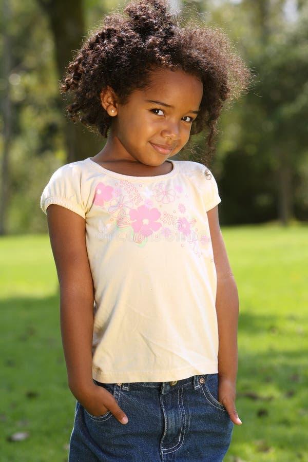 Criança do Afro imagens de stock