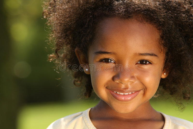 Criança do Afro imagem de stock