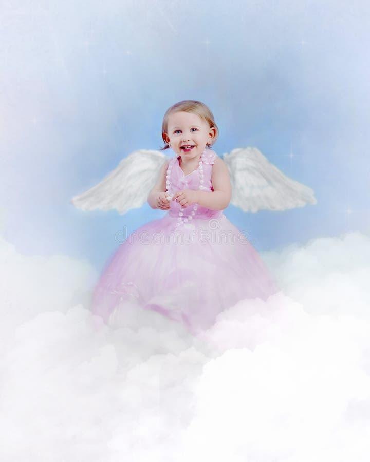 Criança do anjo foto de stock