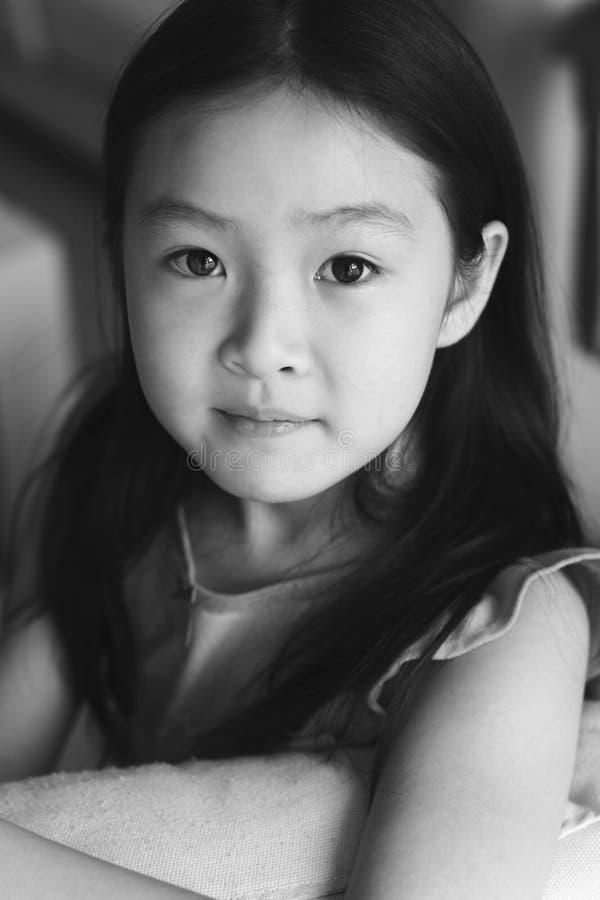 Criança do asian do retrato imagens de stock