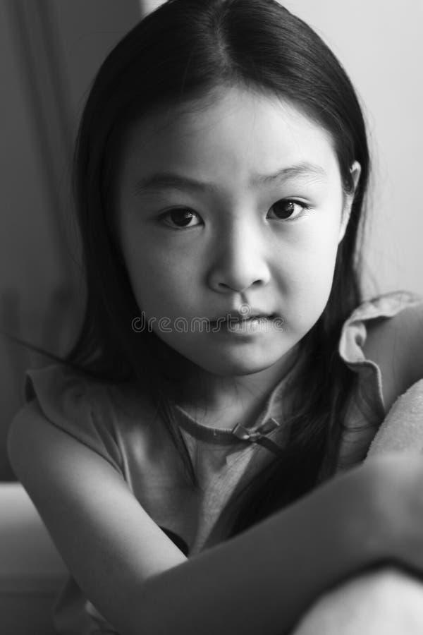 Criança do asian do retrato fotografia de stock