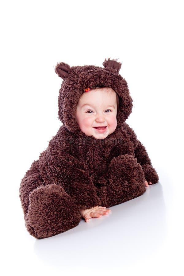 A criança do bebê em peluche-carrega fotografia de stock