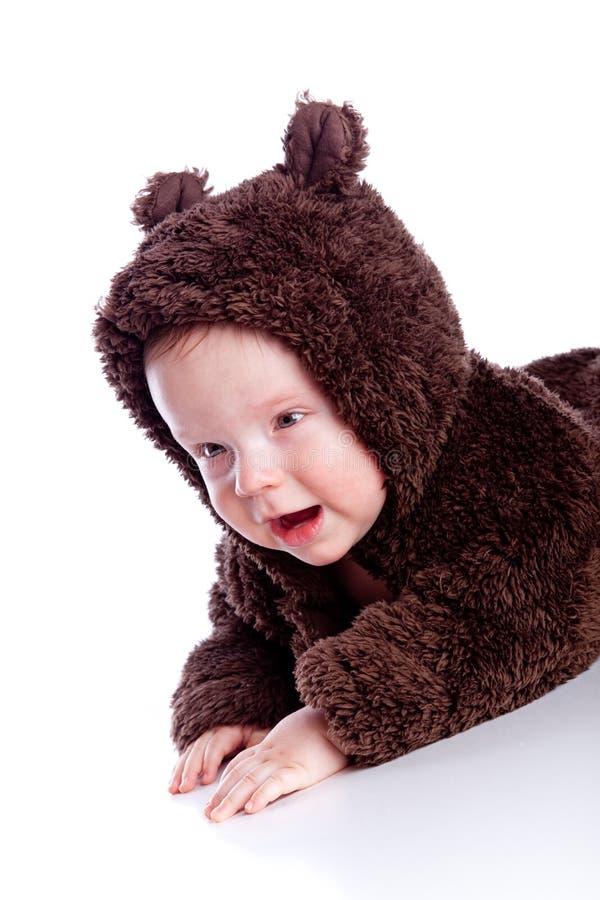 A criança do bebê em peluche-carrega o traje imagens de stock