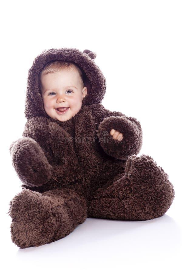 A criança do bebê em peluche-carrega o traje imagem de stock royalty free