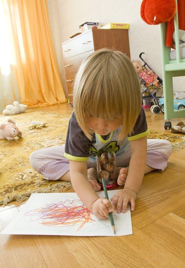 Criança do desenho imagem de stock