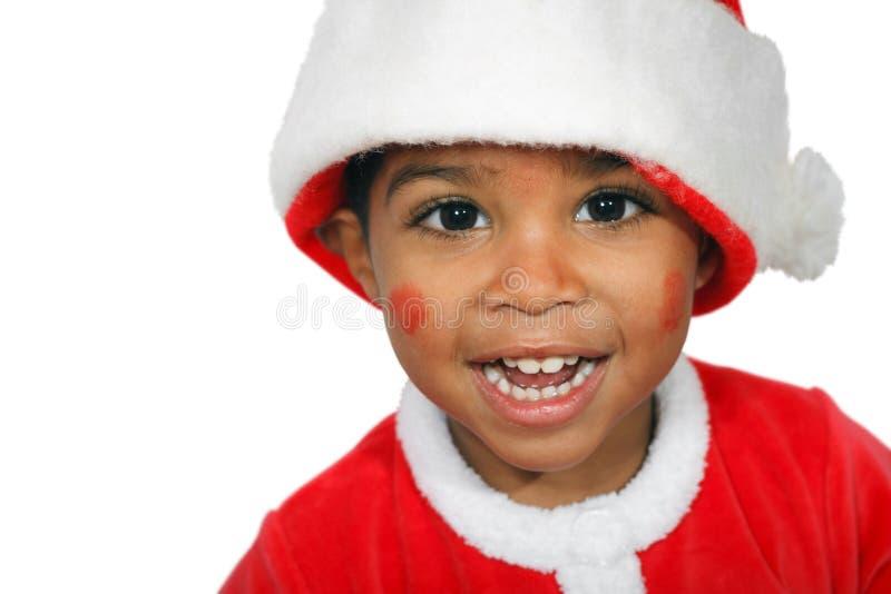 Criança do mulato em um fundo branco foto de stock