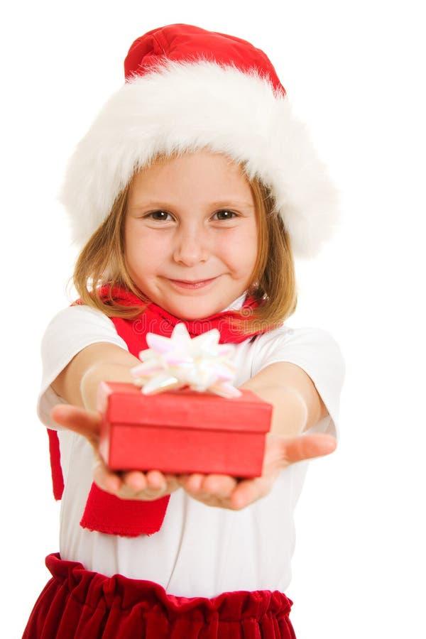 Criança do Natal feliz foto de stock royalty free