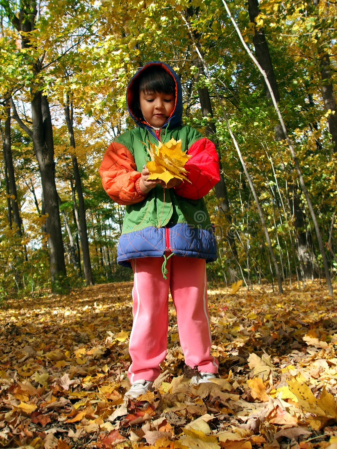 Criança do outono foto de stock