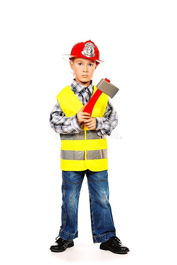 Criança do sapador-bombeiro fotos de stock royalty free