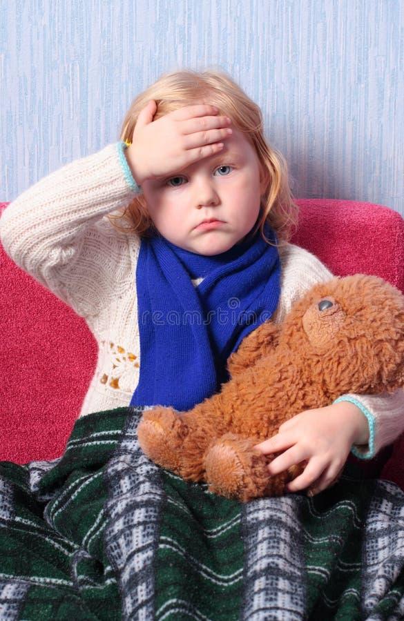 Criança doente imagens de stock royalty free