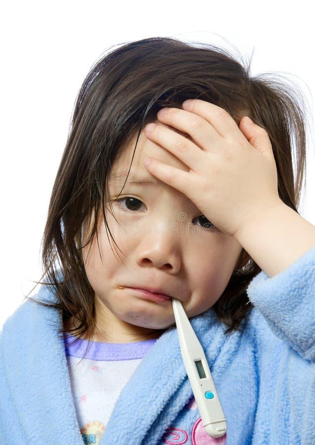 Criança doente fotos de stock