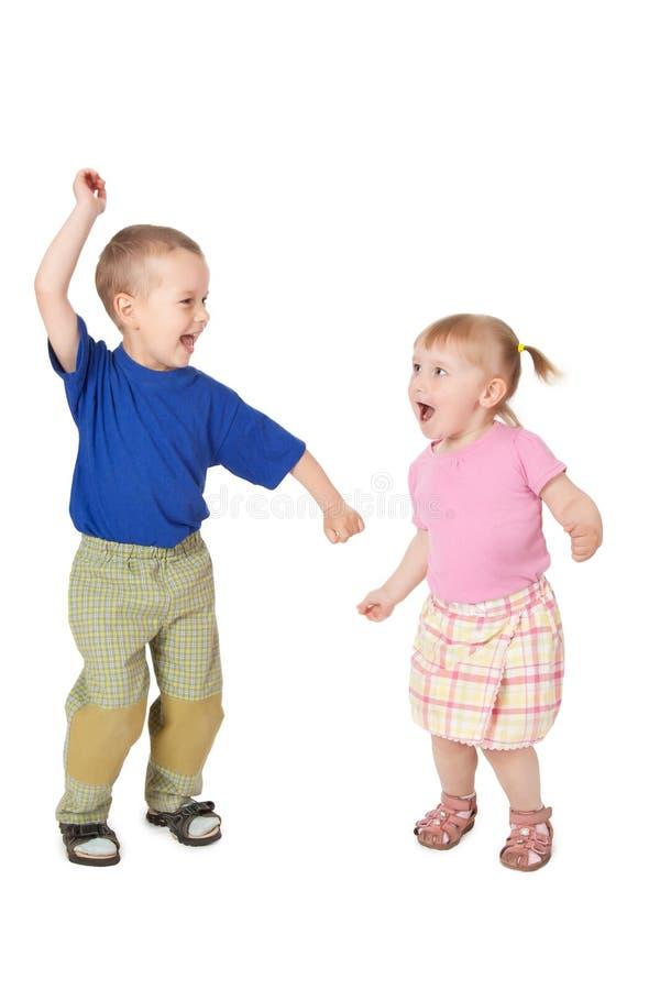 Criança dois de dança imagens de stock