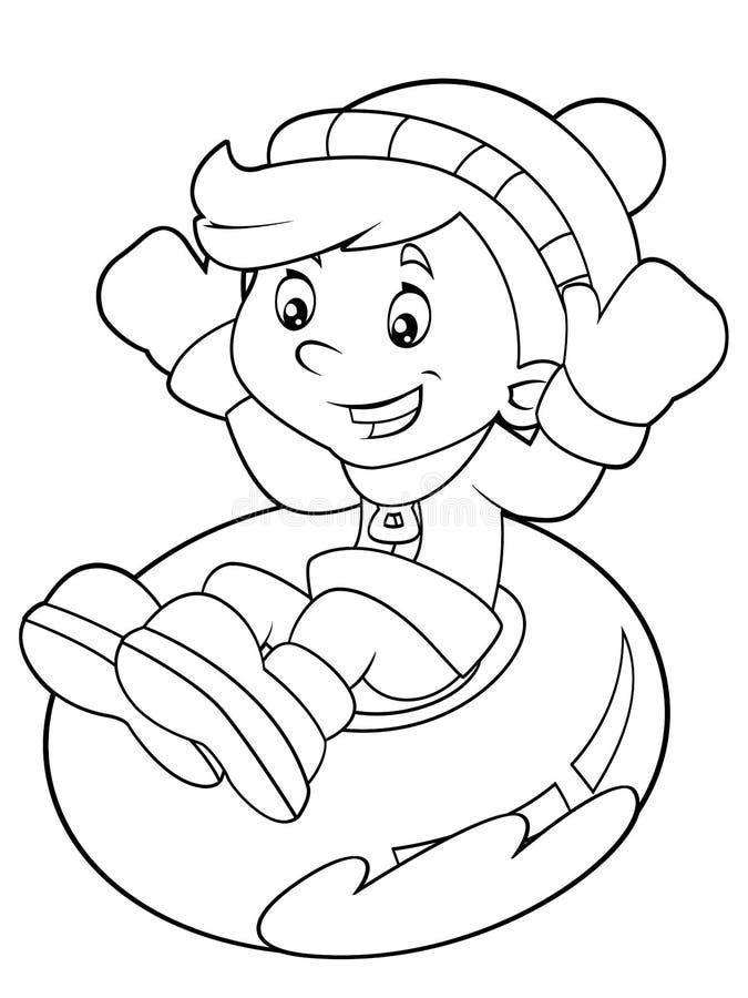 Criança dos desenhos animados - atividade - ilustração para as crianças ilustração do vetor
