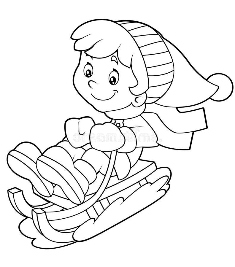 Criança dos desenhos animados - atividade - ilustração para as crianças ilustração stock