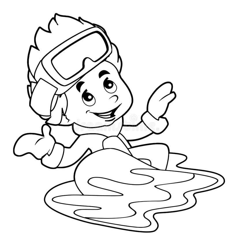 Criança dos desenhos animados - atividade - ilustração para as crianças ilustração royalty free